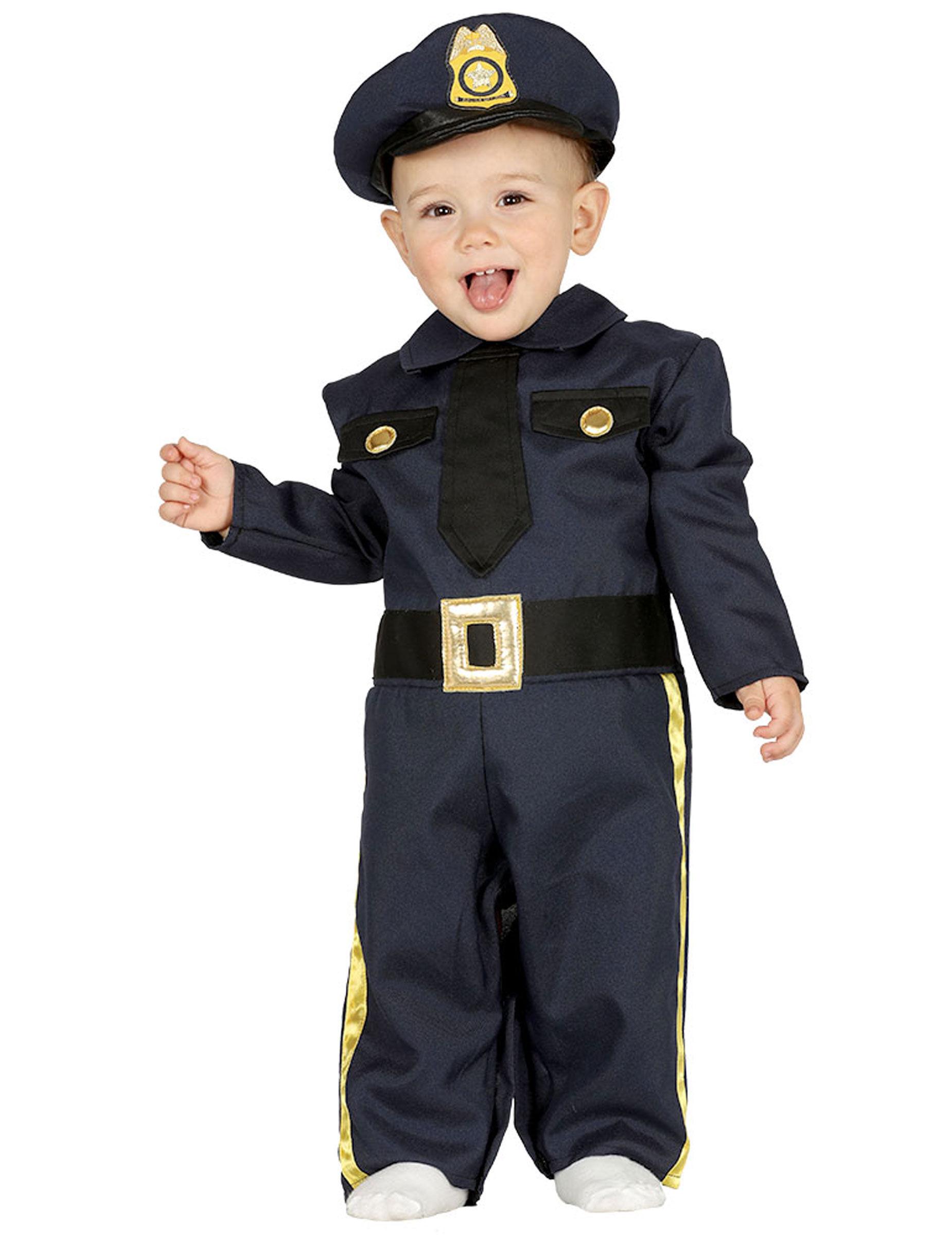 Deguisetoi Déguisement policier marine bébé - Taille: 6 à 12 mois (82-83 cm)