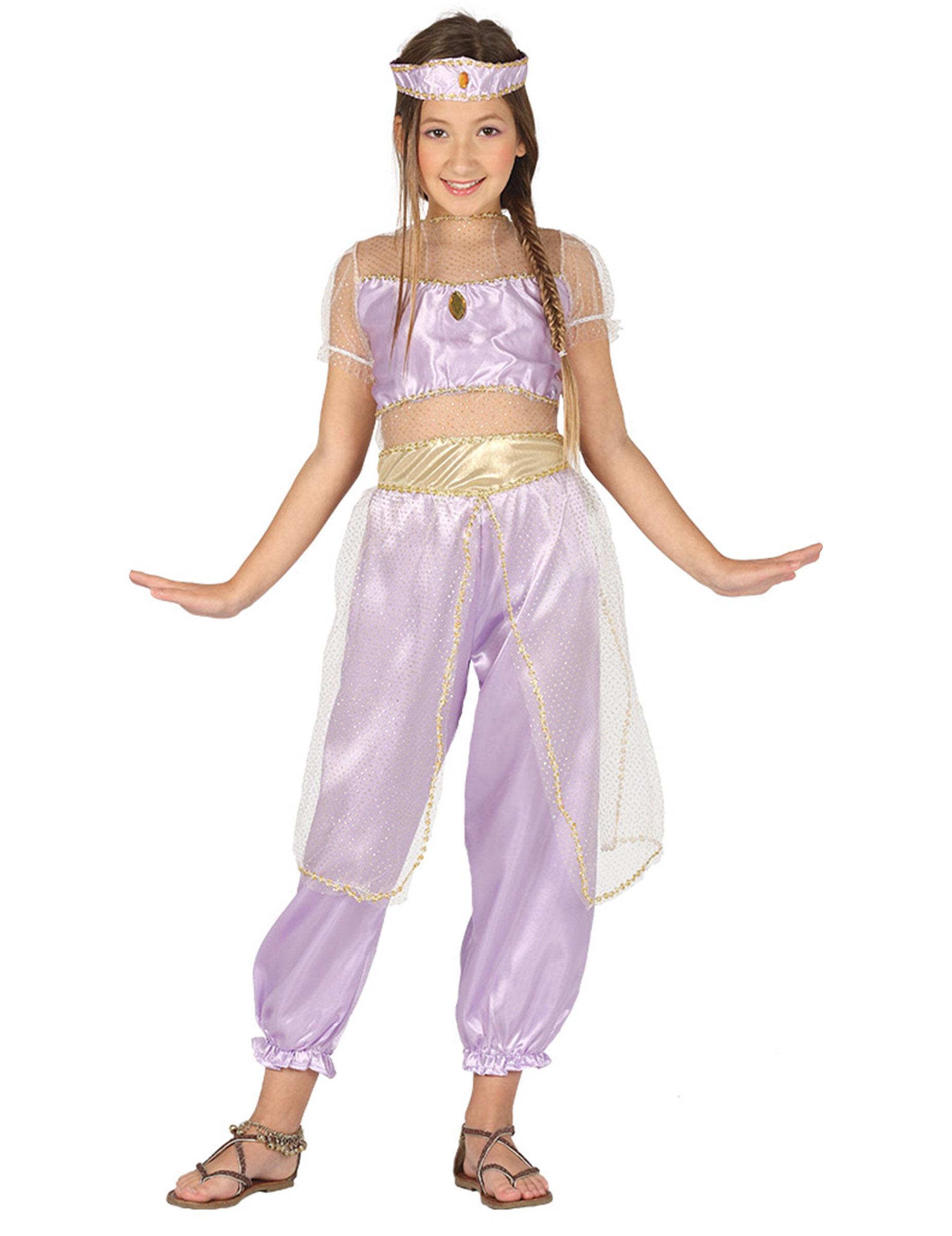 Deguisetoi Déguisement princesse du désert violet fille - Taille: 5 à 6 ans (110-115 cm)