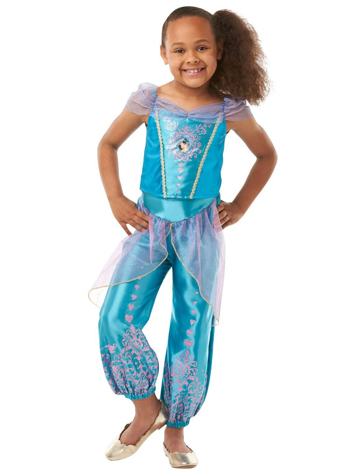 Deguisetoi Déguisement princesse Jasmine fille - Taille: 7 à 8 ans (128 cm)