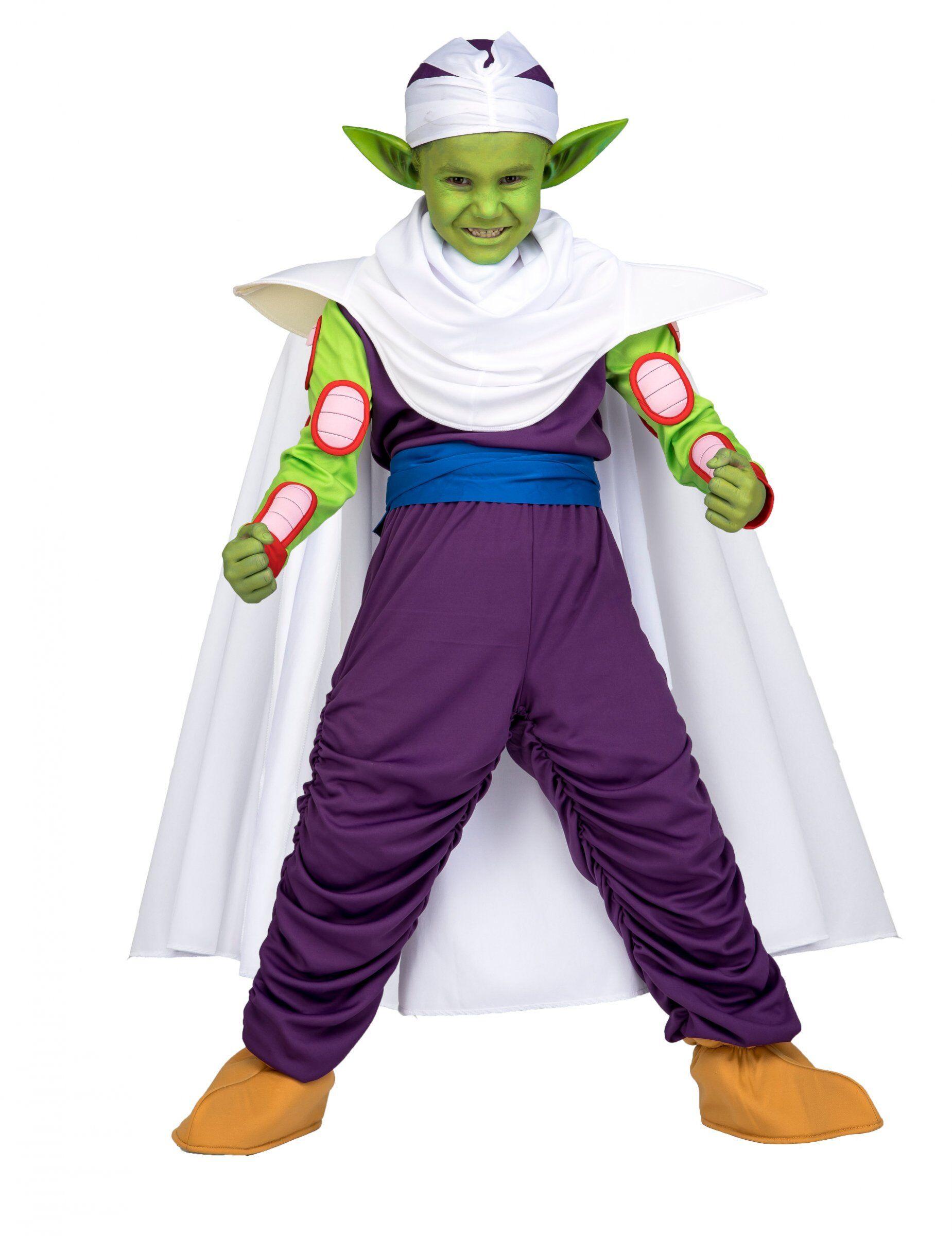 Deguisetoi Coffret déguisement Piccolo Dragon Ball enfant avec maquillage - Taille: 10 - 12 ans (140 - 152 cm)