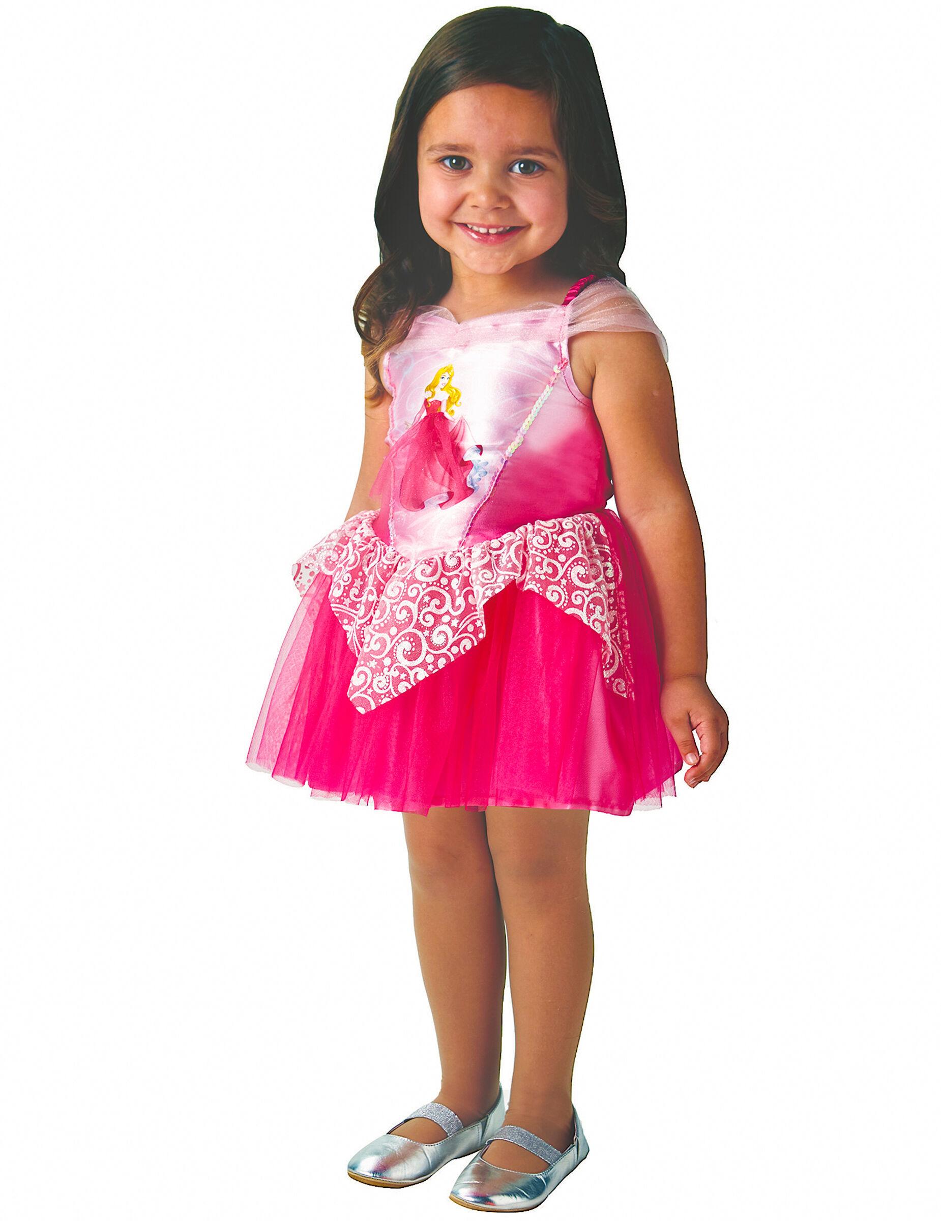 Deguisetoi Déguisement Princesse Ballerine Aurore rose fille - Taille: 3 à 4 ans (90 à 104 cm)