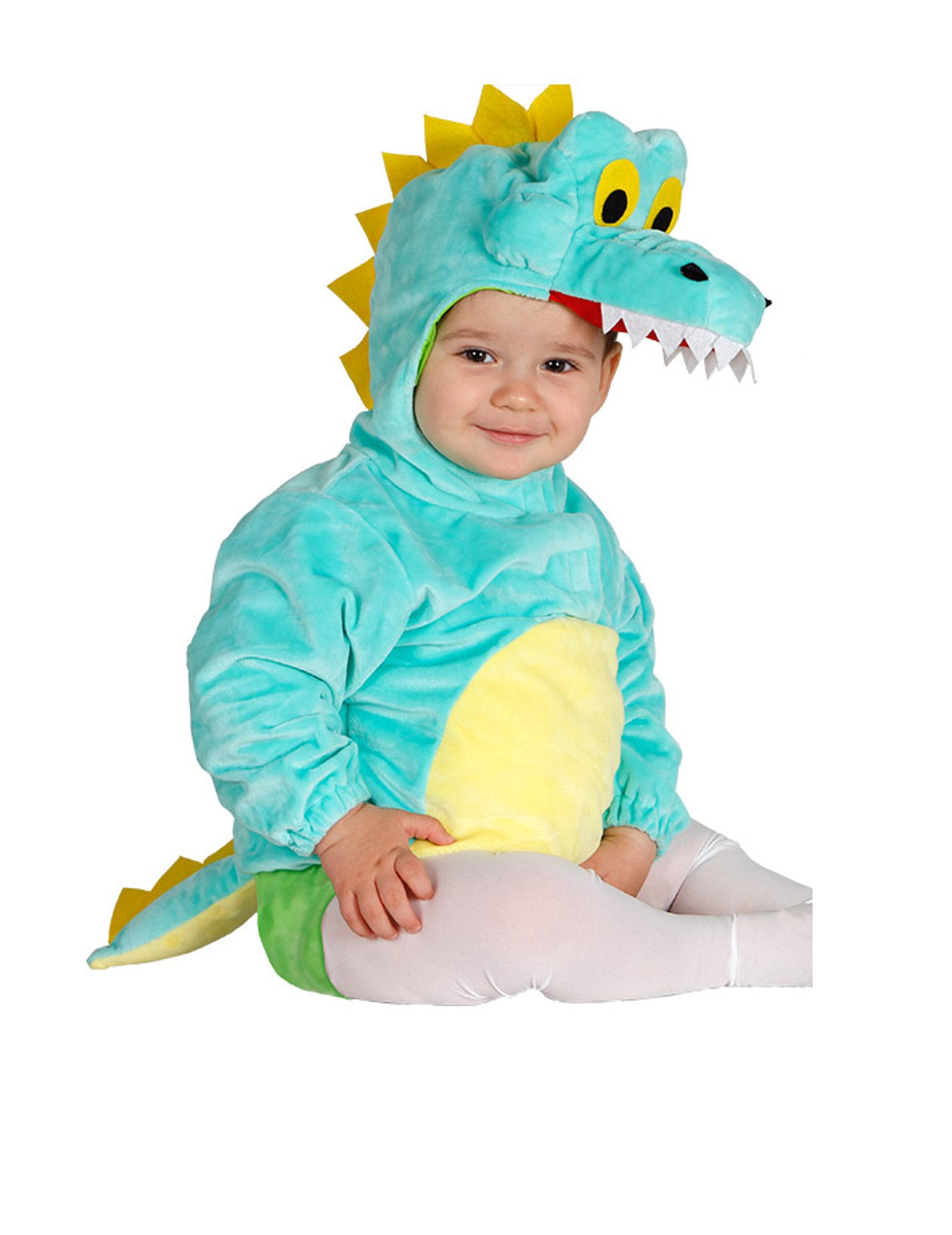 Deguisetoi Déguisement tunique avec capuche crocodile bébé - Taille: 6 à 12 mois (82-83 cm)