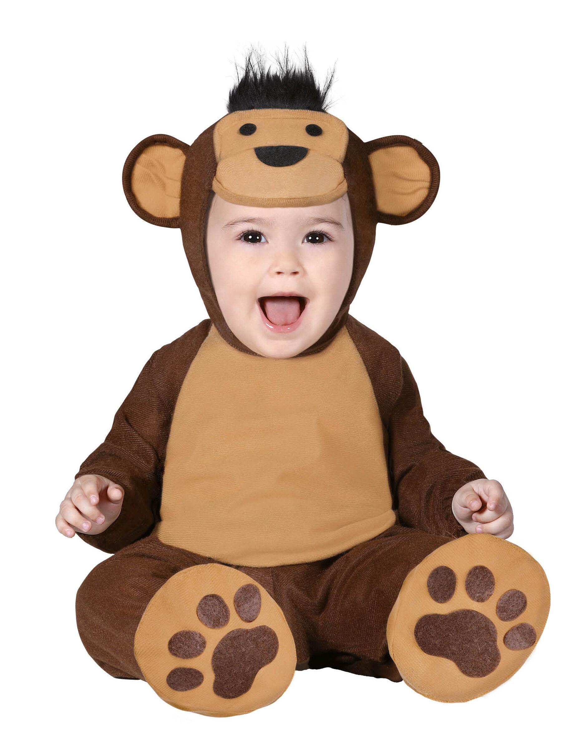 Deguisetoi Déguisement combinaison singe marron bébé - Taille: 6 à 12 mois (82-83 cm)