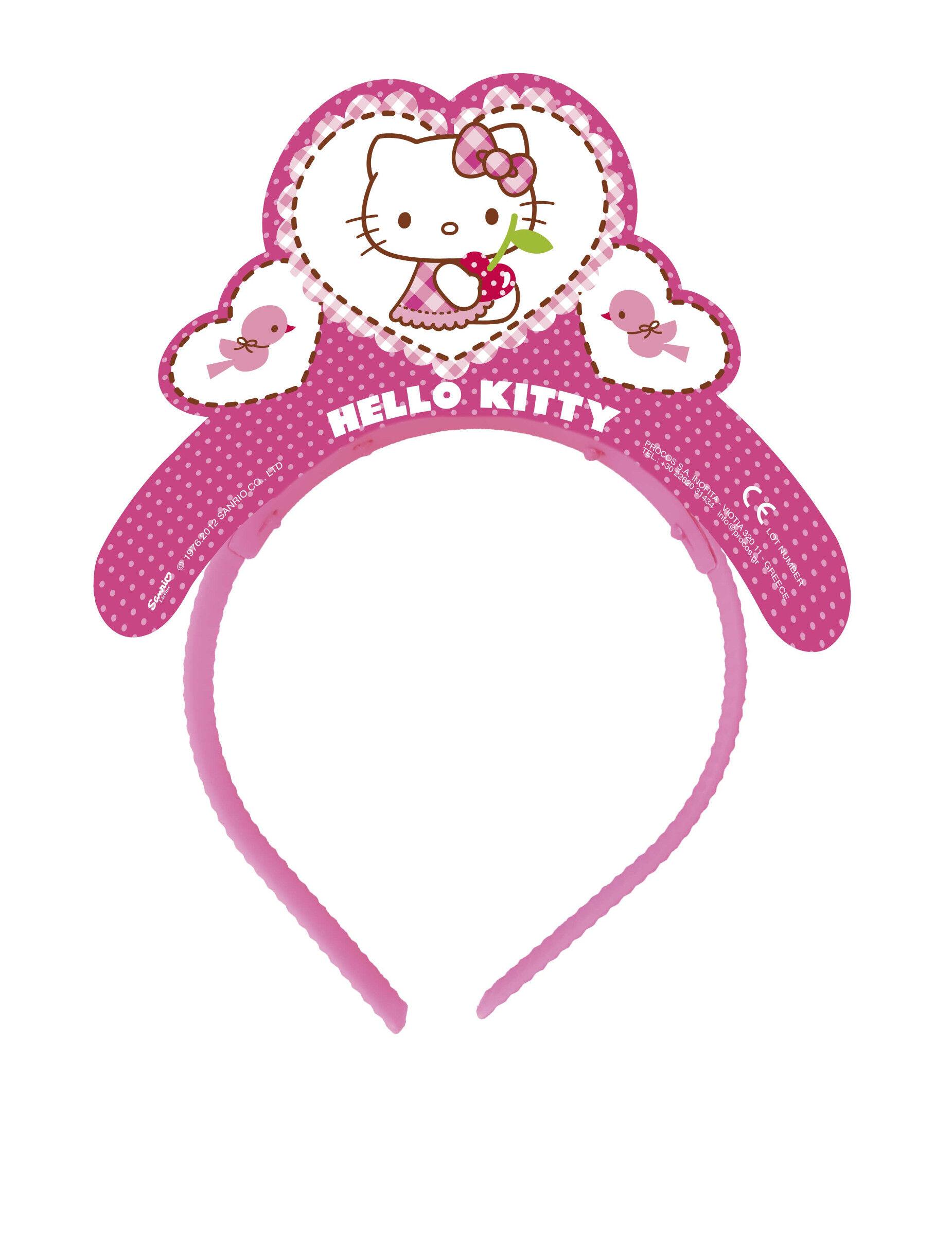 Deguisetoi 4 Tiares en carton Hello Kitty