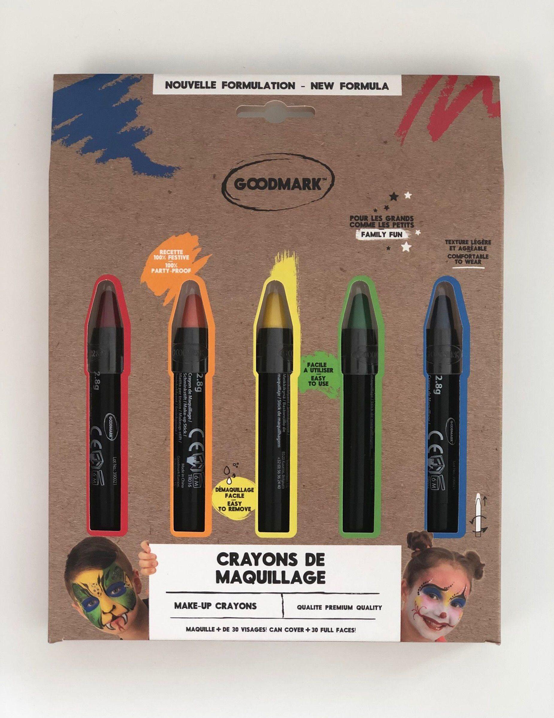 Deguisetoi 5 crayons de maquillage arc-en-ciel 2,8 g