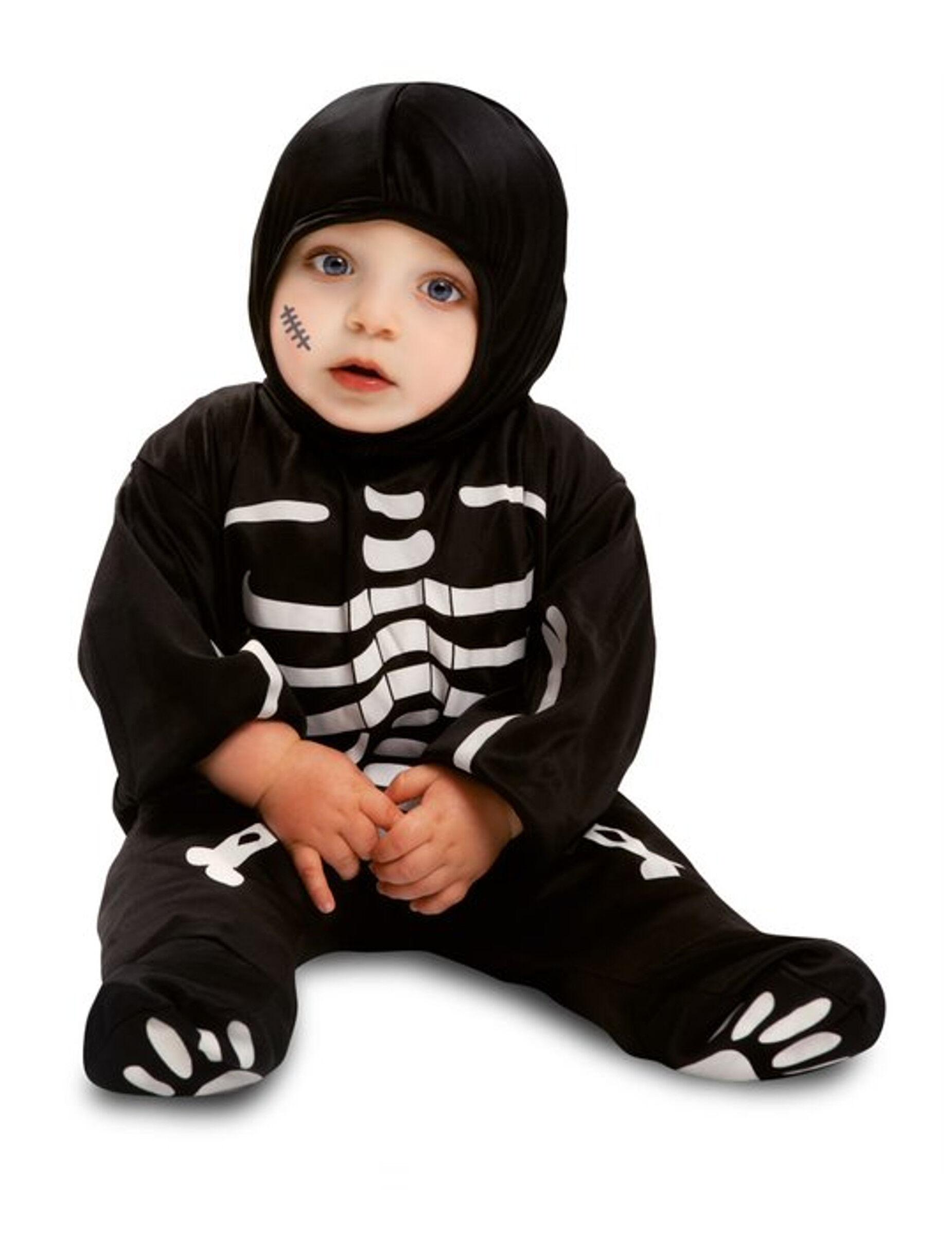 Deguisetoi Déguisement combinaison petit squelette noir bébé - Taille: 7 - 12 mois (74 - 80 cm)