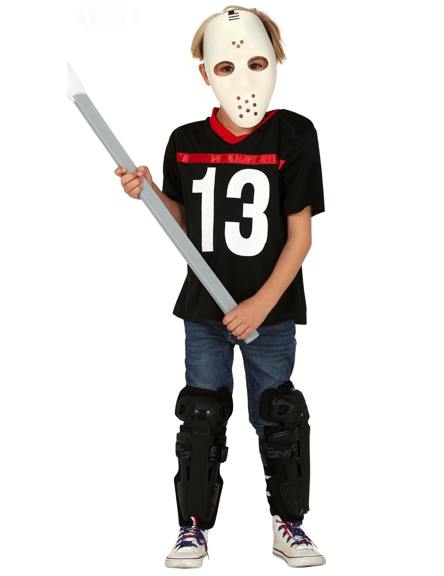 Deguisetoi Déguisement assassin avec masque de hockey garçon - Taille: 10 à 12 ans (142-148 cm)