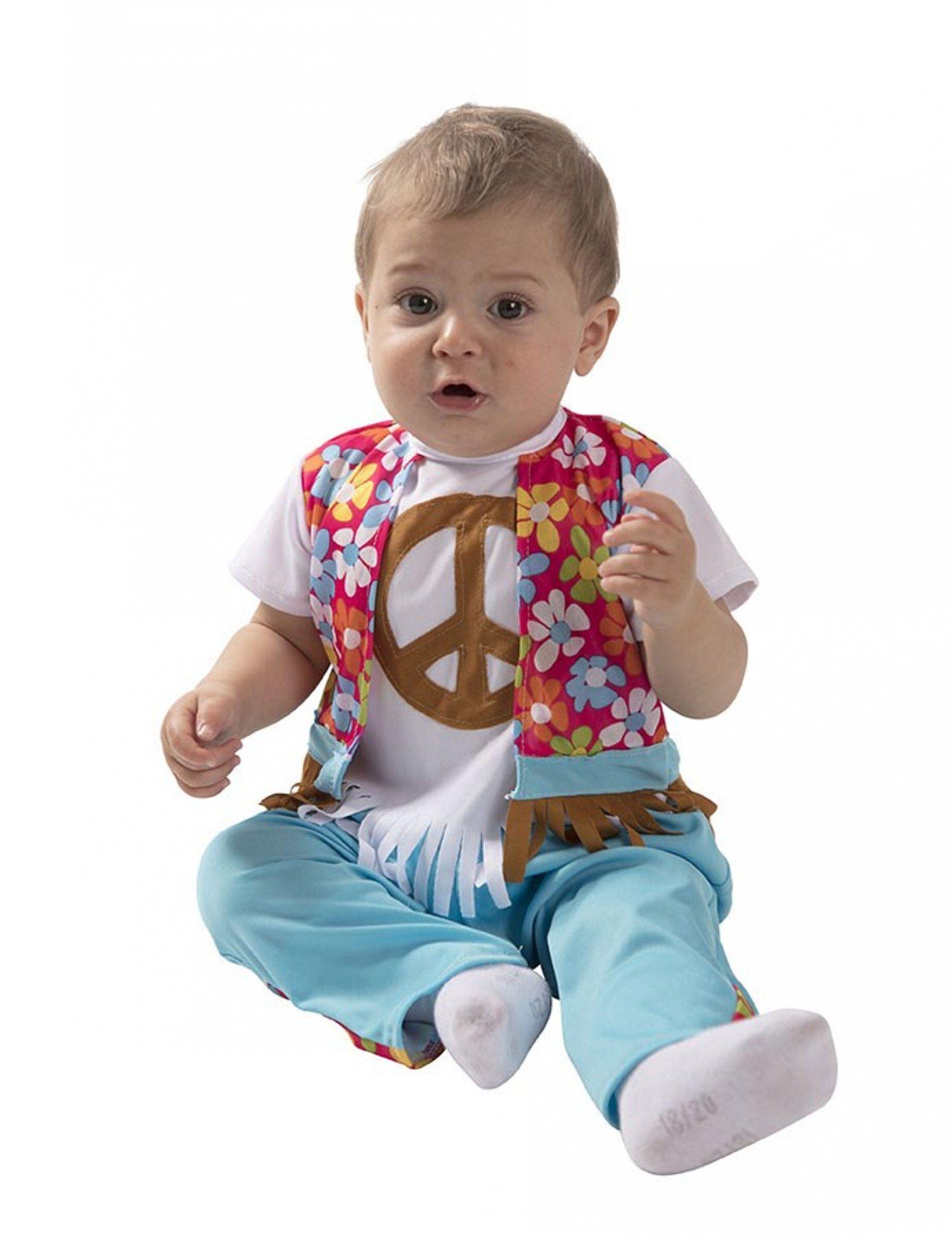 Deguisetoi Déguisement petit hippie bébé - Taille: 6 à 12 mois (67-69 cm)
