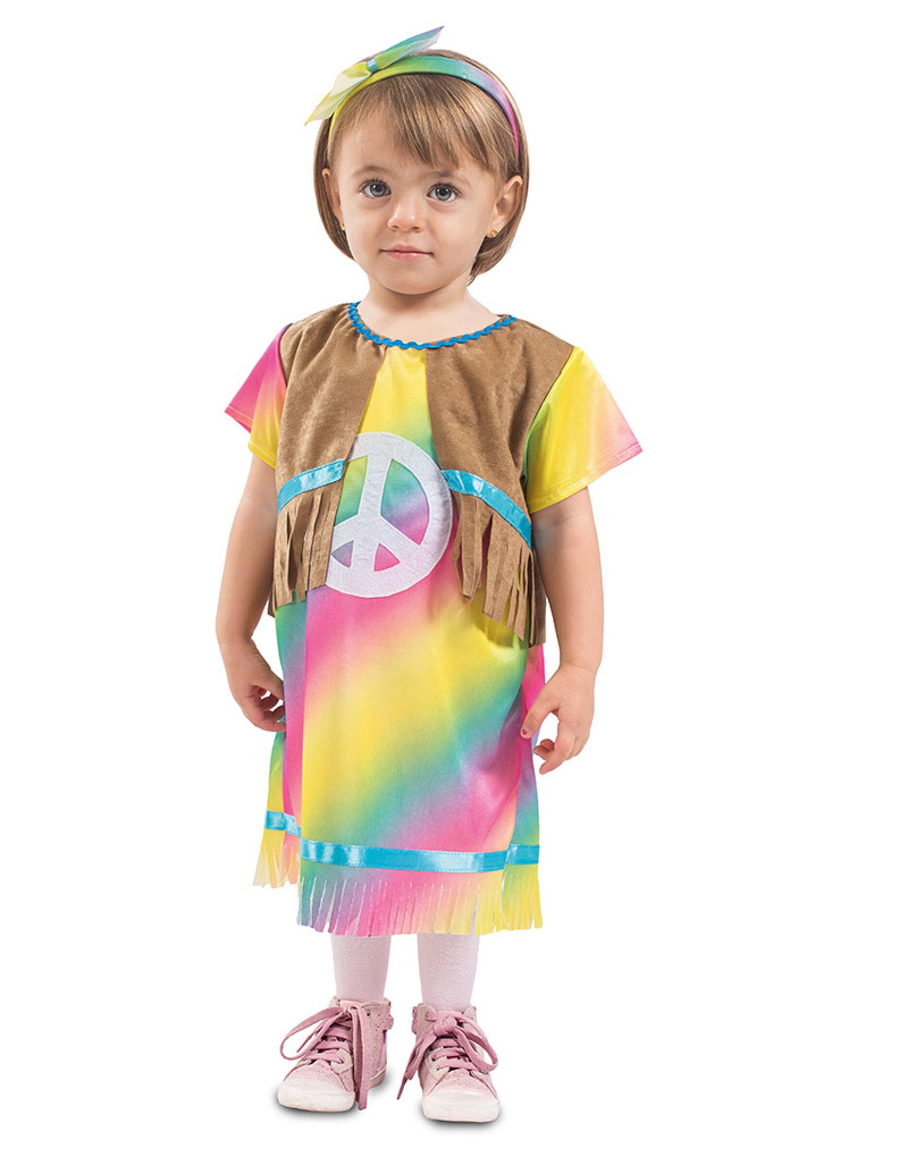 Deguisetoi Déguisement robe petite hippie bébé - Taille: 6 à 12 mois (67-69 cm)
