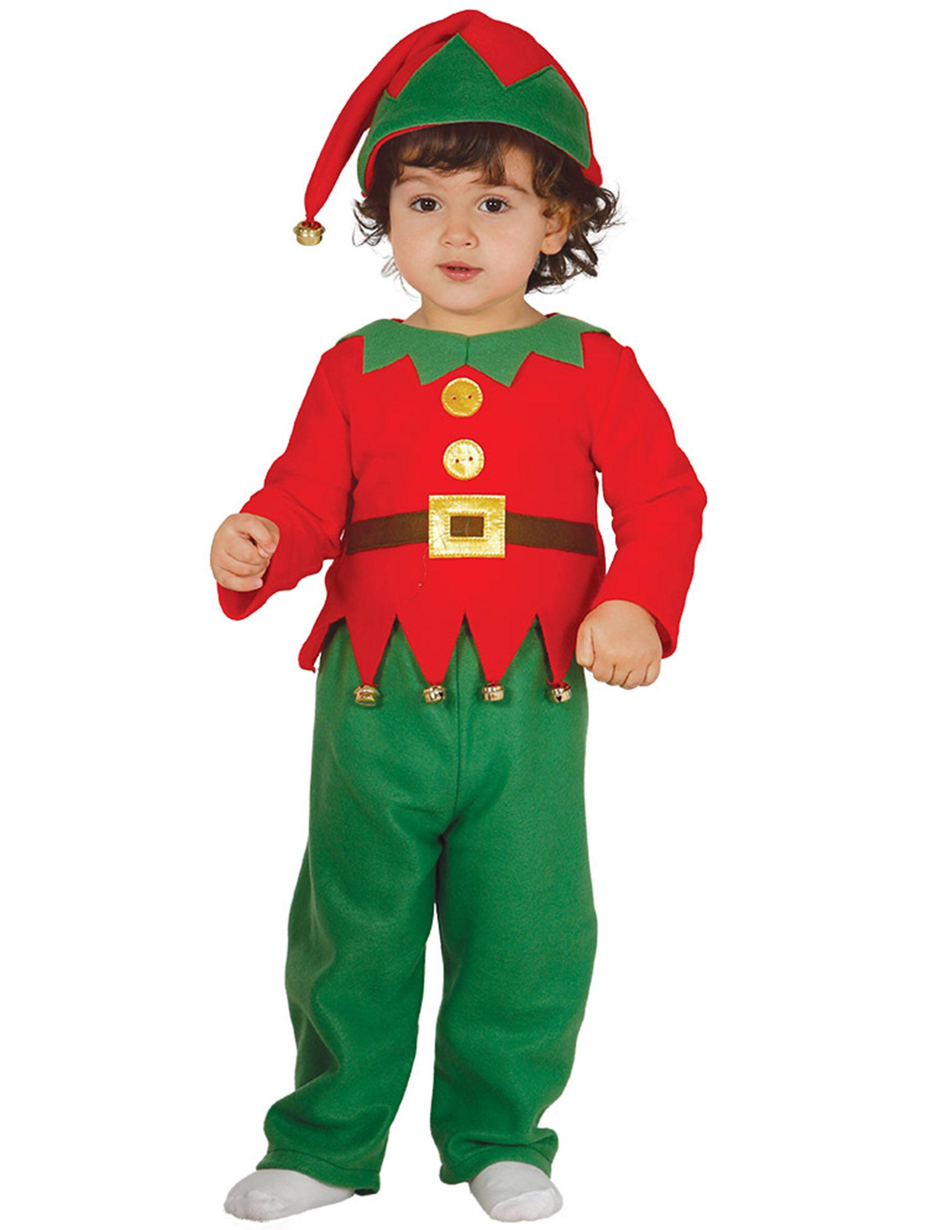 Deguisetoi Déguisement classique petit lutin de Noël bébé - Taille: 6 à 12 mois (82-83 cm)