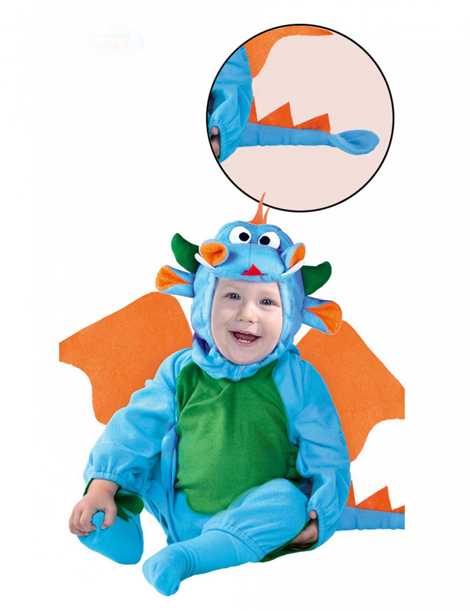 Deguisetoi Déguisement dragon bleu bébé - Taille: 6 à 12 mois (82-83 cm)