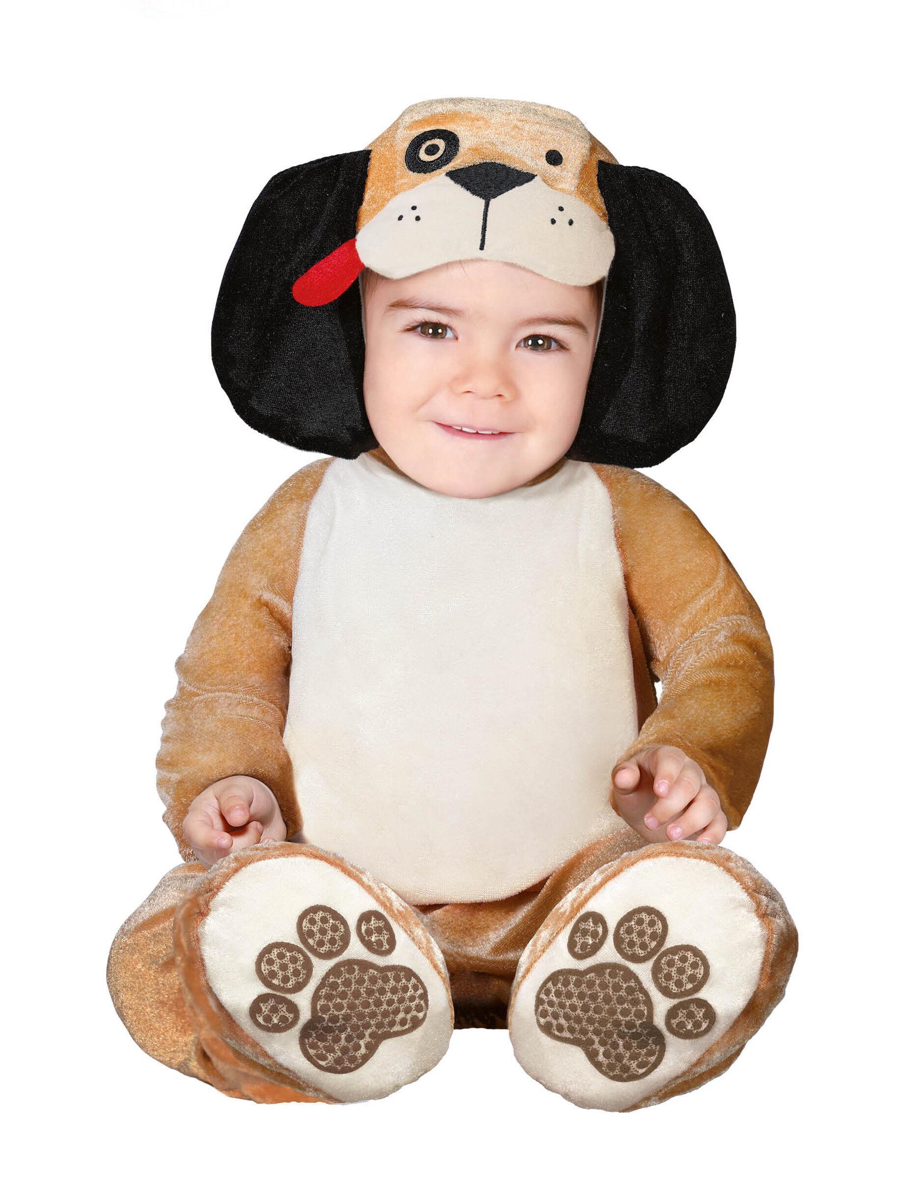 Deguisetoi Déguisement petit chien marron bébé - Taille: 6 à 12 mois (82-83 cm)