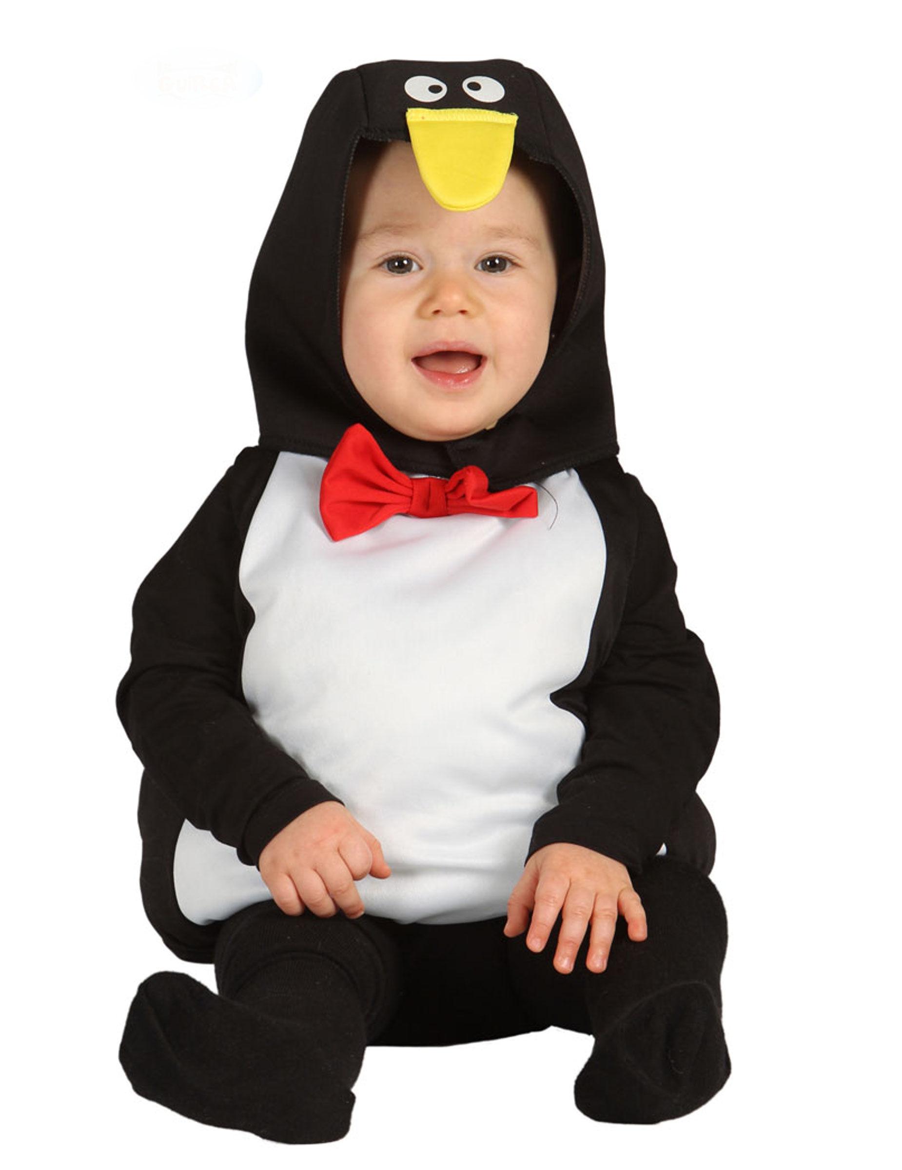 Deguisetoi Déguisement pingouin bébé - Taille: 6 à 12 mois (82-83 cm)