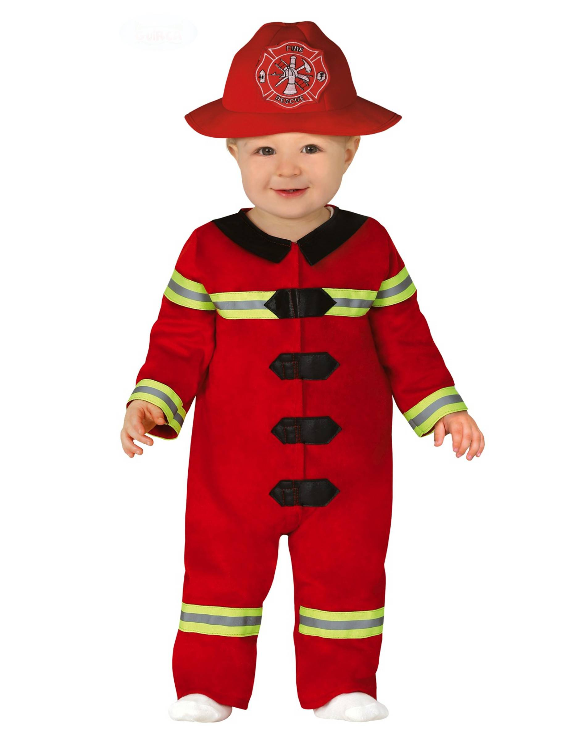 Deguisetoi Déguisement petit pompier bébé - Taille: 6 à 12 mois (82-83 cm)