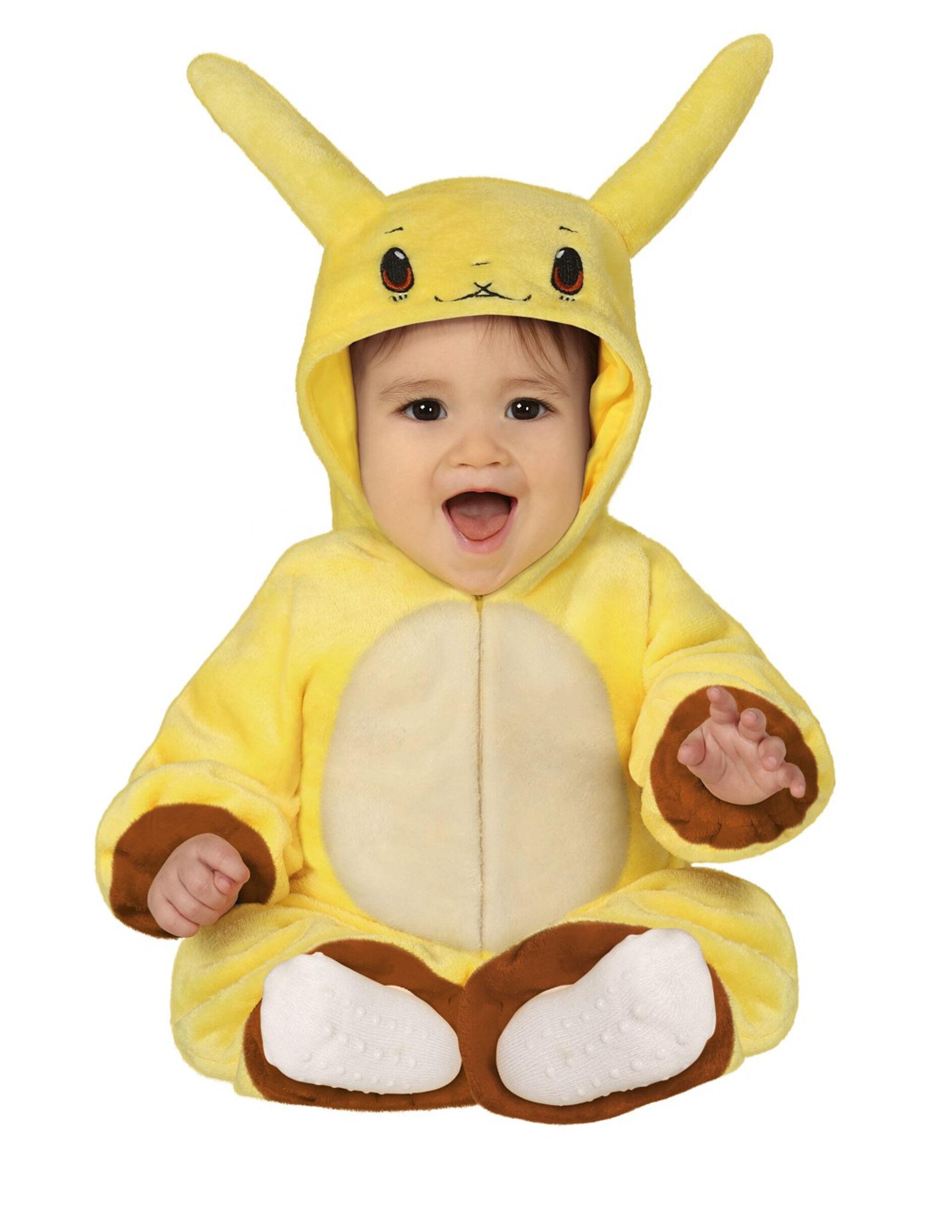 Deguisetoi Déguisement bonhomme jaune électrique bébé - Taille: 6 à 12 mois (82-83 cm)