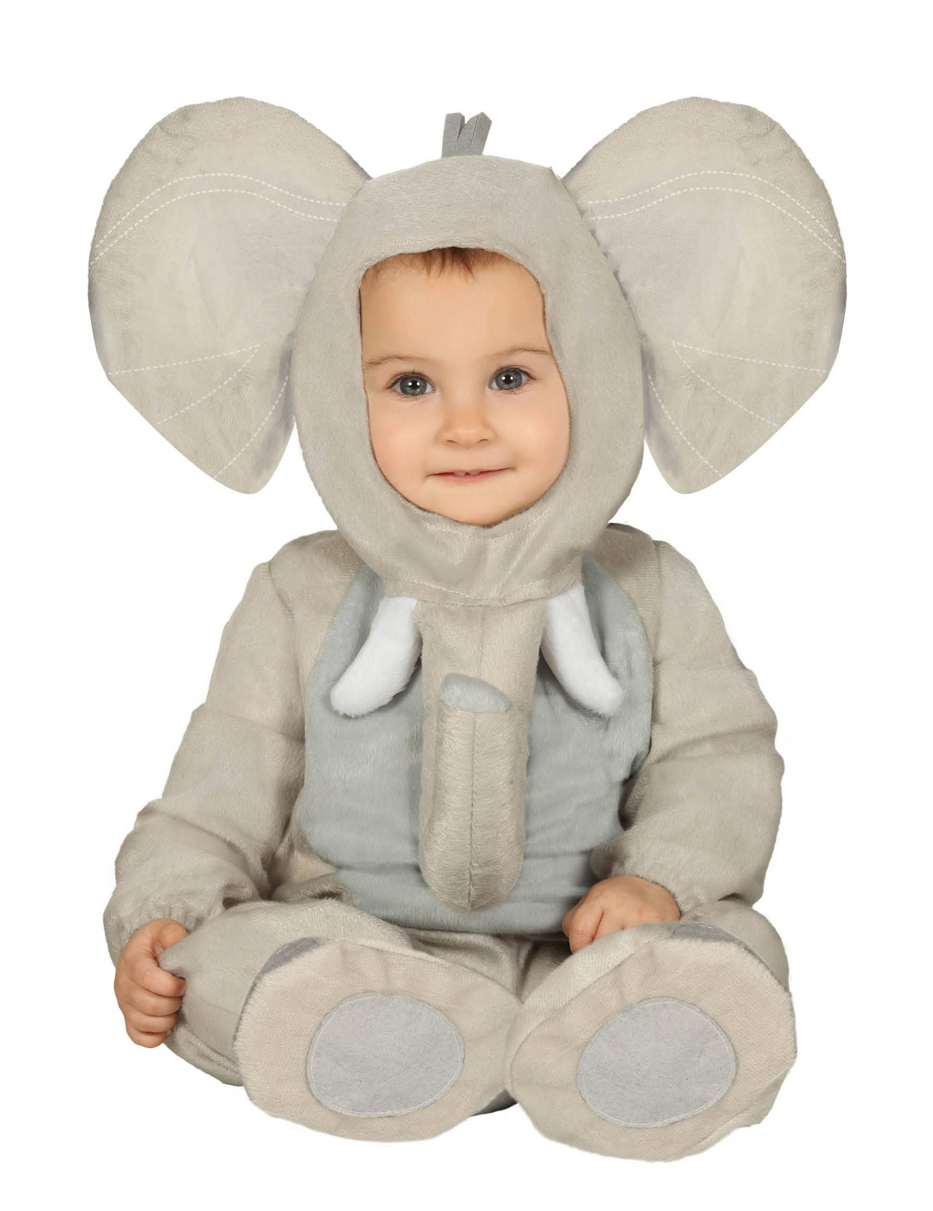 Deguisetoi Déguisement éléphant peluche bébé - Taille: 6 à 12 mois (82-83 cm)