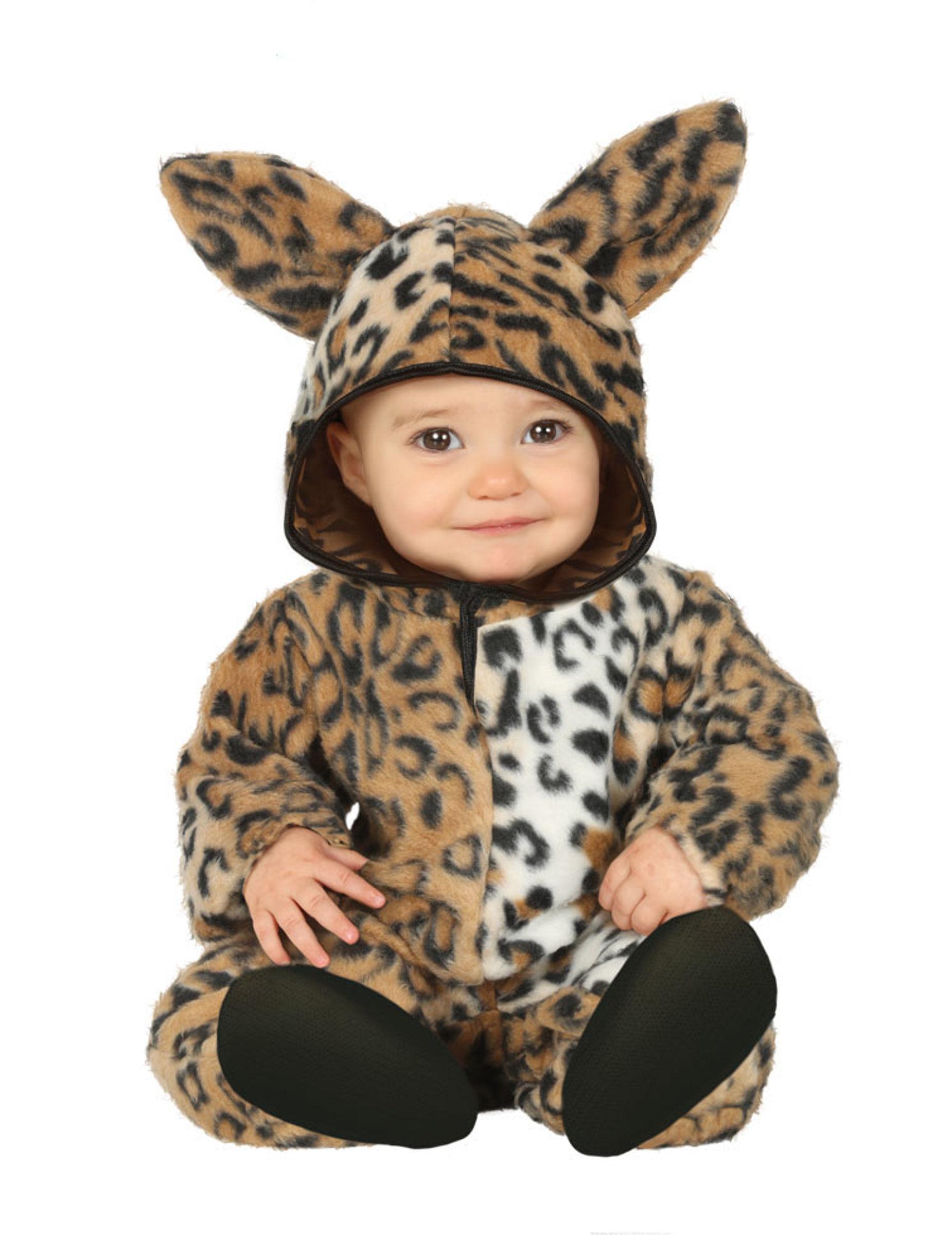 Deguisetoi Déguisement Léopard peluche bébé - Taille: 6 à 12 mois (82-83 cm)