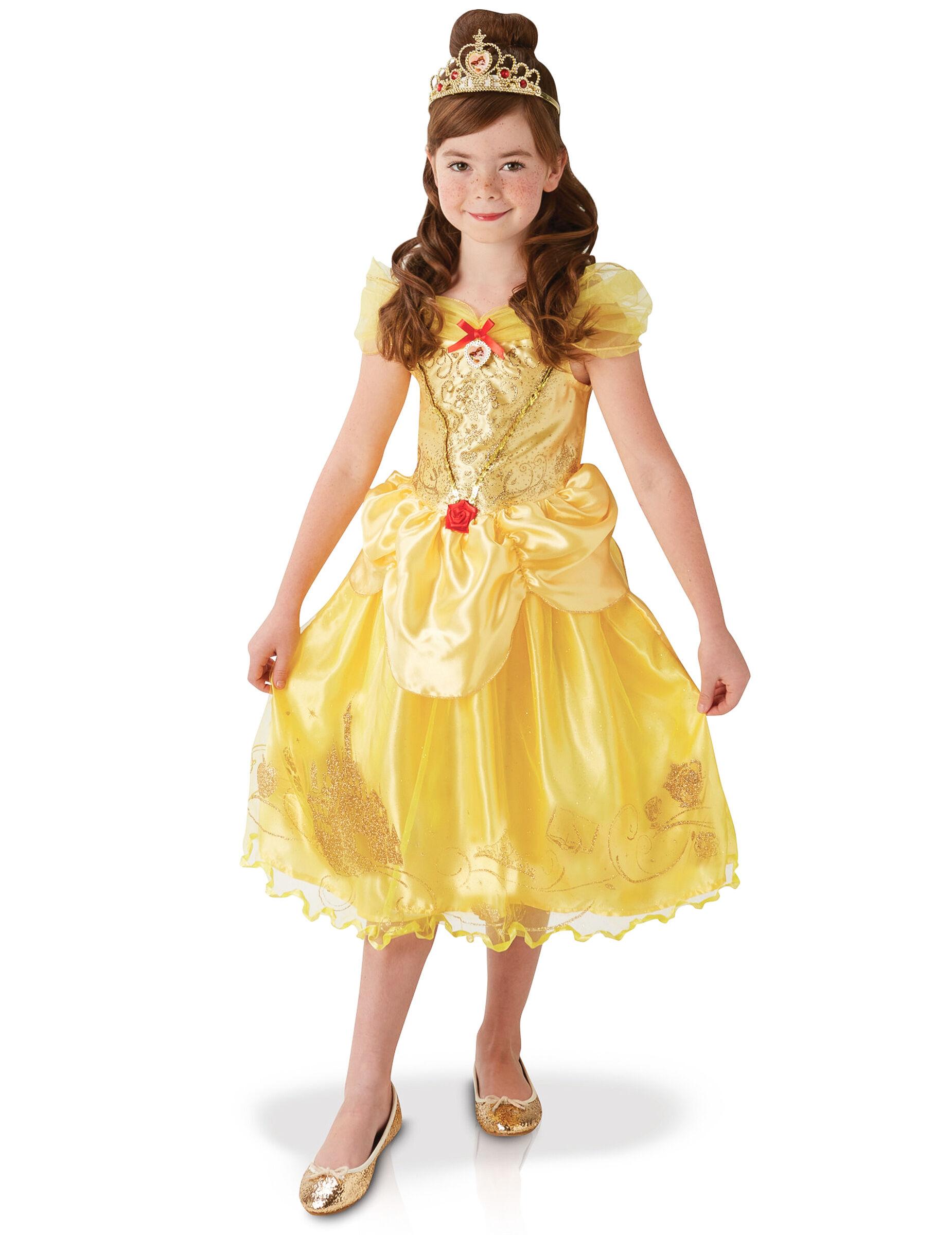 Deguisetoi Déguisement Disney Princess Belle fille - Taille: 5 à 6 ans (105 à 116 cm)