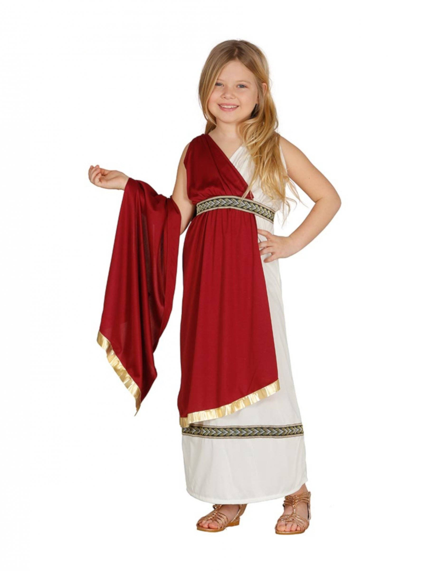 Deguisetoi Déguisement princesse romaine fille - Taille: 5 à 6 ans (110-115 cm)