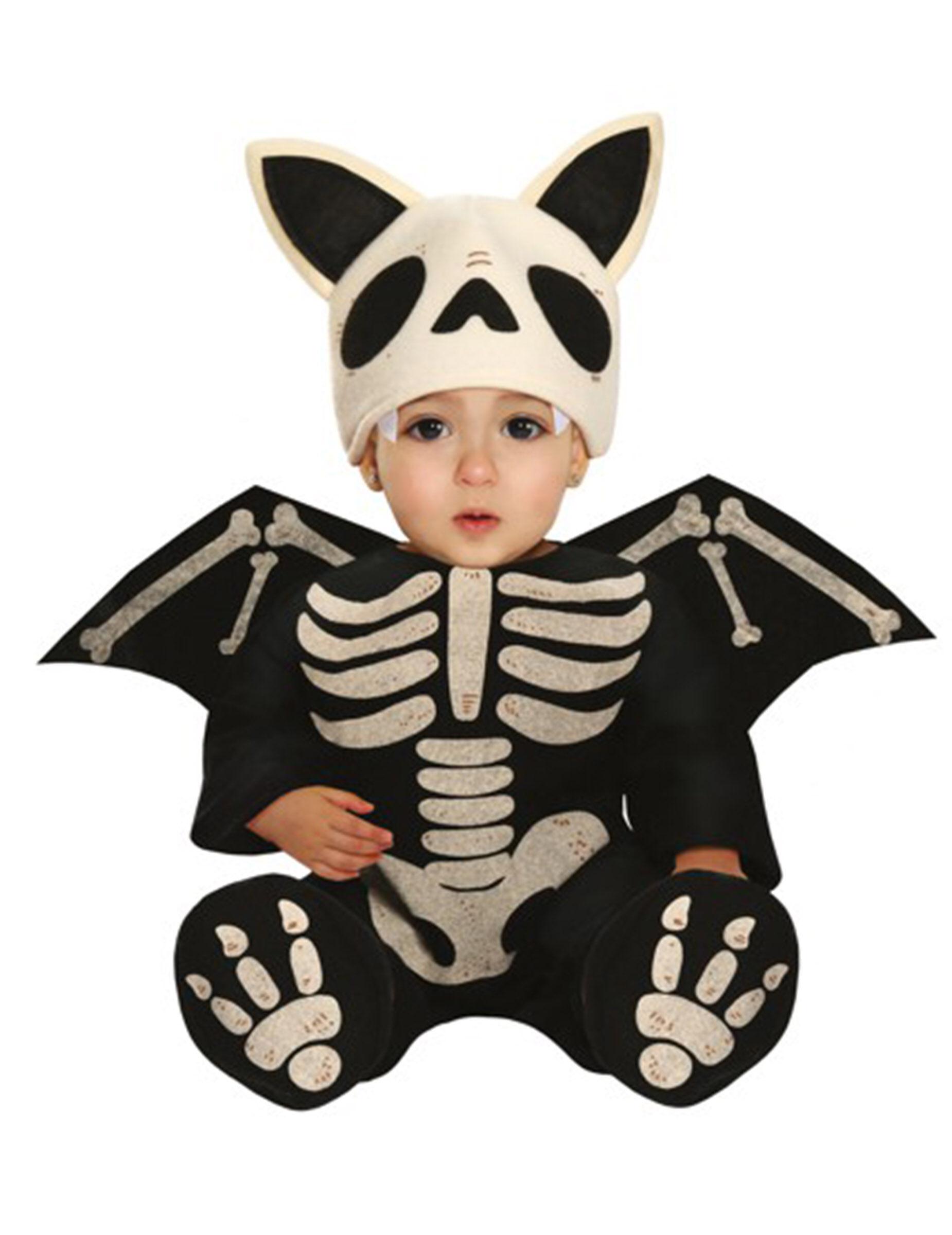 Deguisetoi Déguisement squelette chauve-souris bébé - Taille: 6 à 12 mois (82-83 cm)