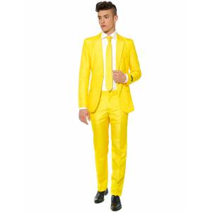 Deguisetoi Costume Mr. Solid jaune homme Suitmeister - Taille: XL (EU 58) - Publicité
