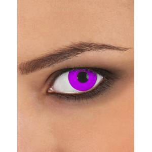 Deguisetoi Lentilles de contact sans correction fantaisie oeil violet 3 mois adulte - Publicité