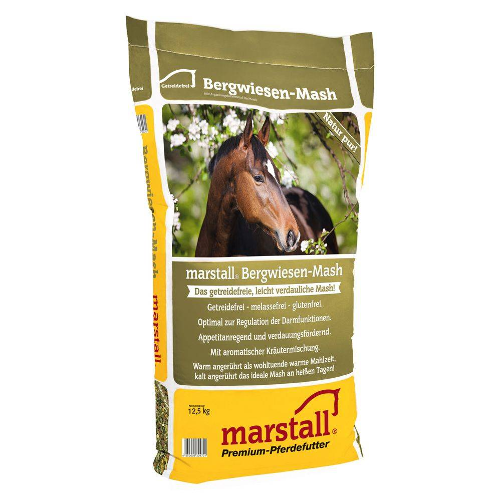 Marstall 2x12,5kg Marstall Bergwiesen-Mash Mash des prés de montagne pour cheval