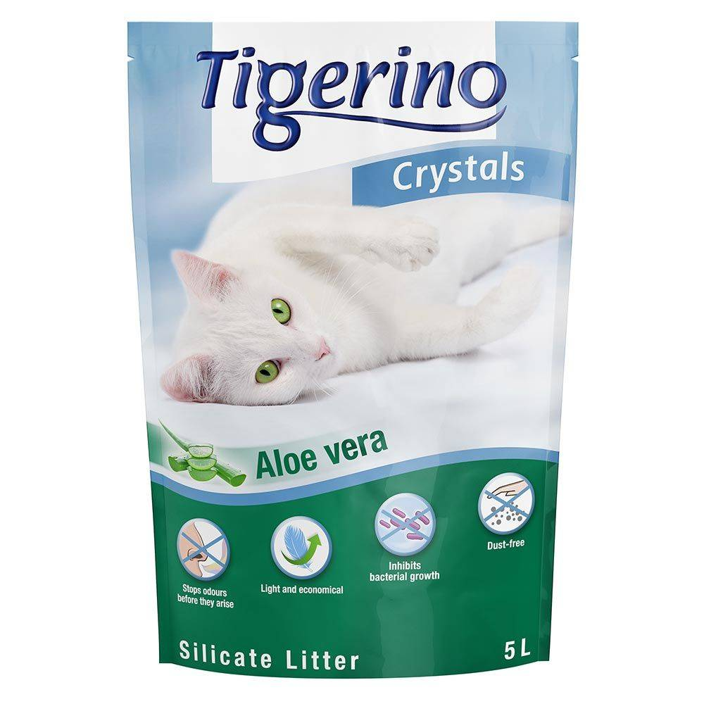 Tigerino 6x5L Litière Tigerino Crystals Aloe Vera - pour chat