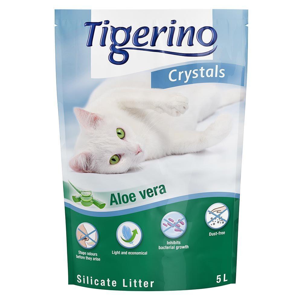 Tigerino 3x5L Litière Tigerino Crystals Aloe Vera - pour chat