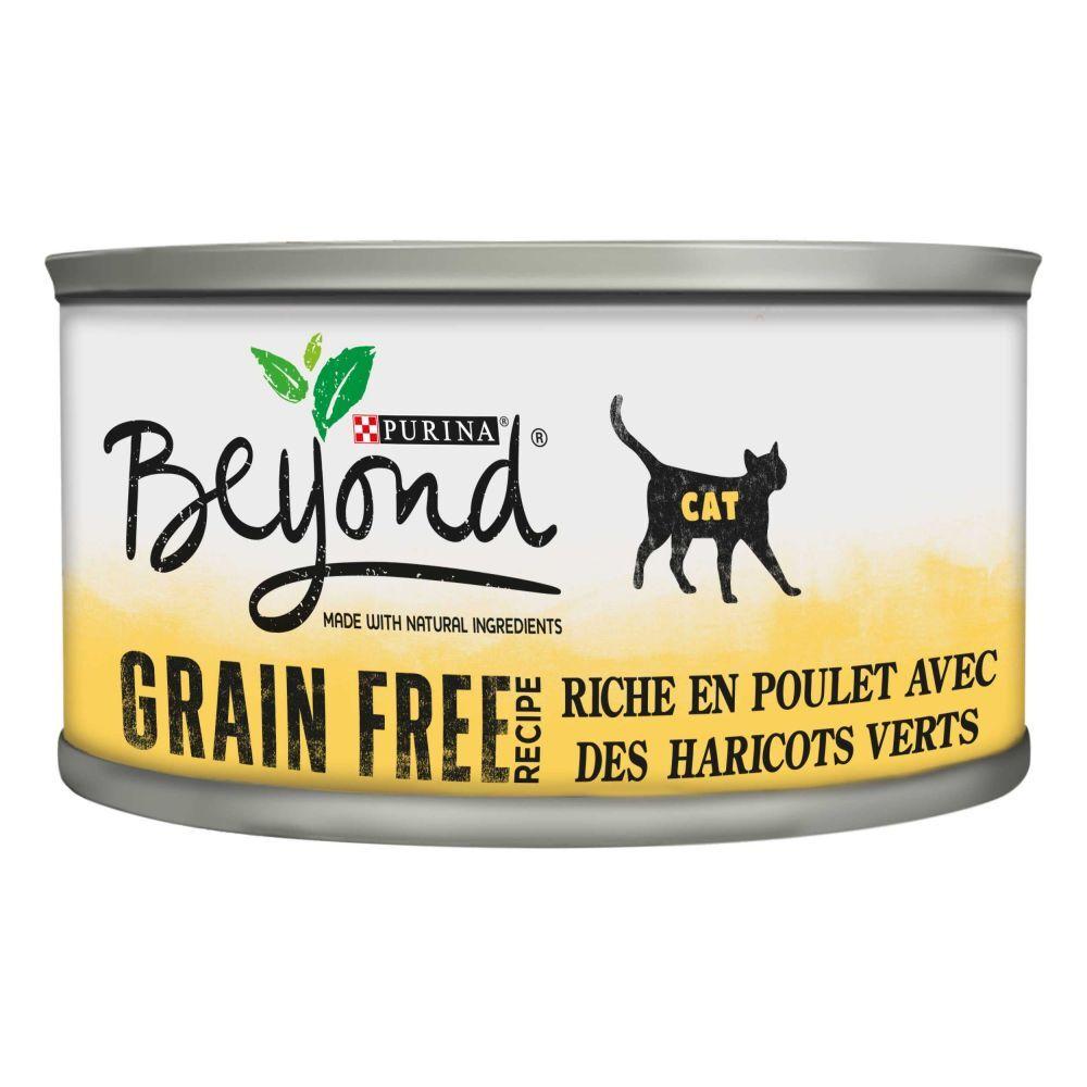 BEYOND 12x85g Mousse Sans céréales poulet Beyond pour chat