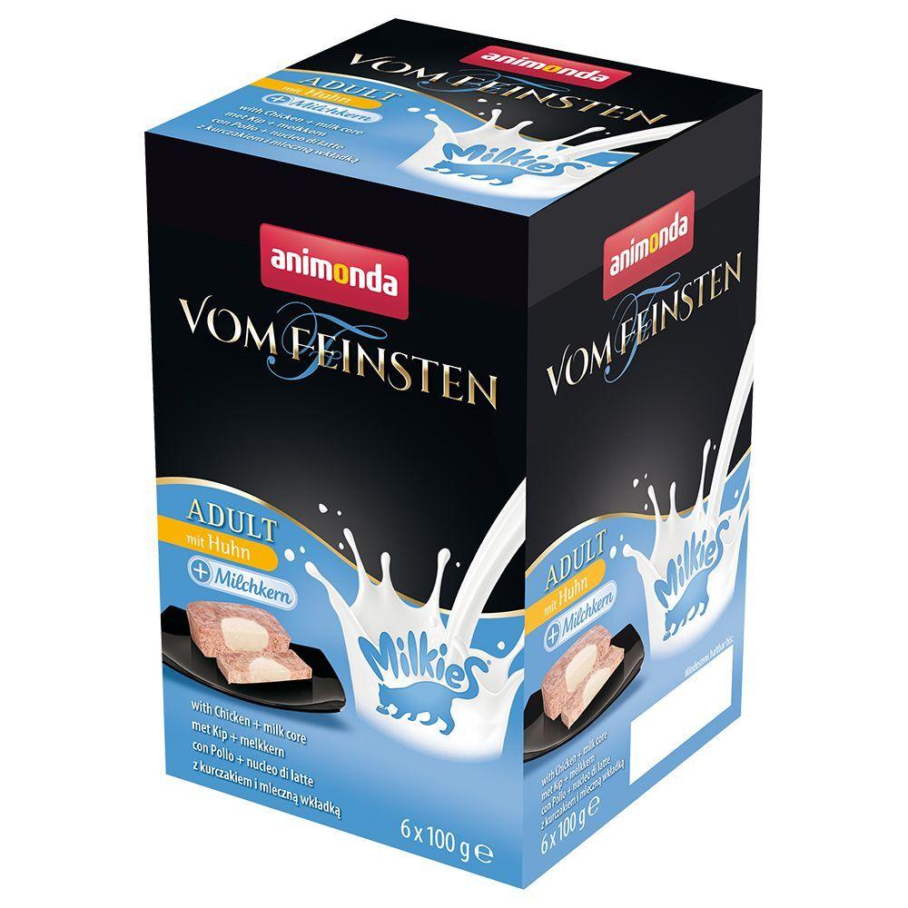 Animonda Vom Feinsten 6x100g Adult Milkies dinde & cœur au lait Animonda Vom Feinsten - Pâtée pour chat