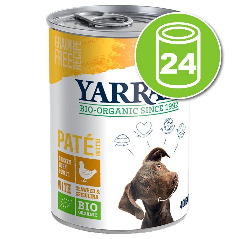 Yarrah 24x405g Adult Yarrah Bio Pâté pour chien au Poulet en sauce