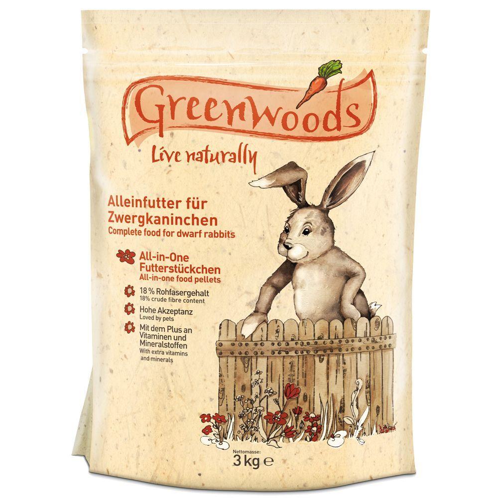 Greenwoods Small Animals 2x3kg Greenwoods lapin nain - Nourriture lapin nain