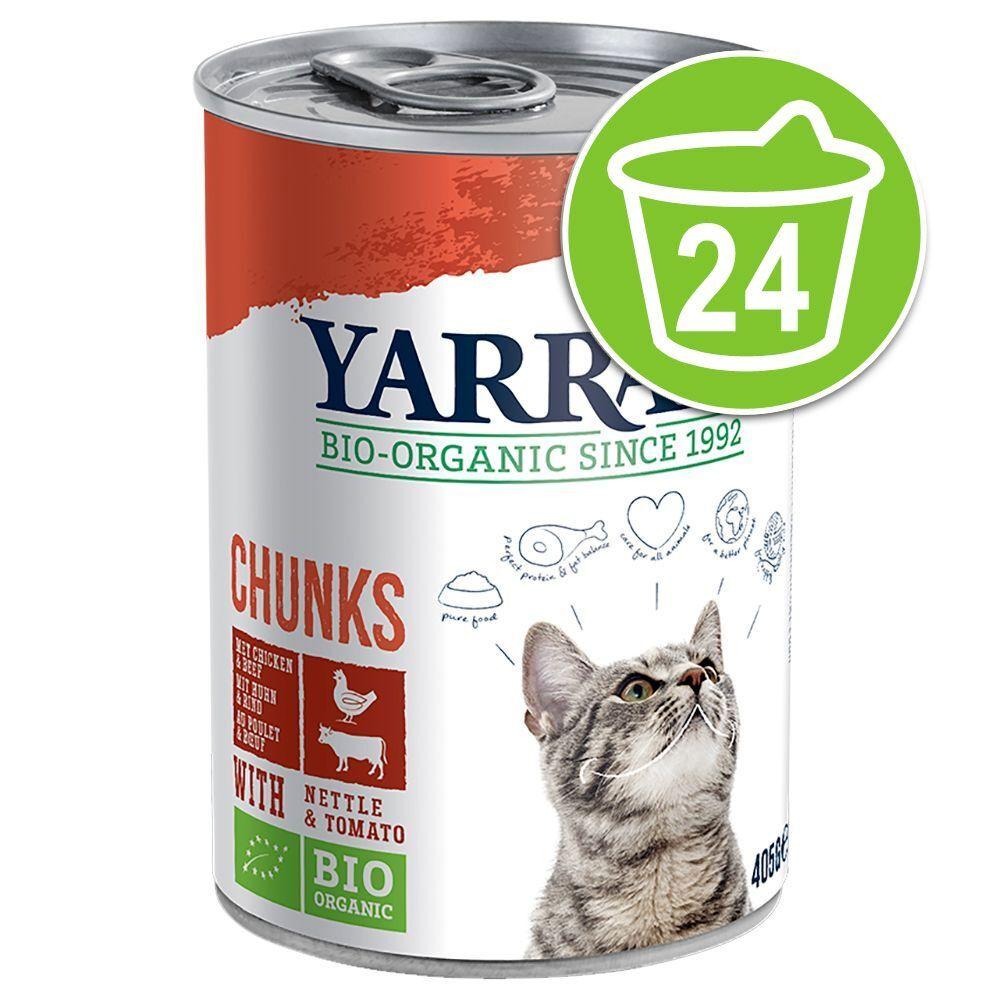 Yarrah 24x400g Adult Poulet Yarrah Bio - Pâté pour chat