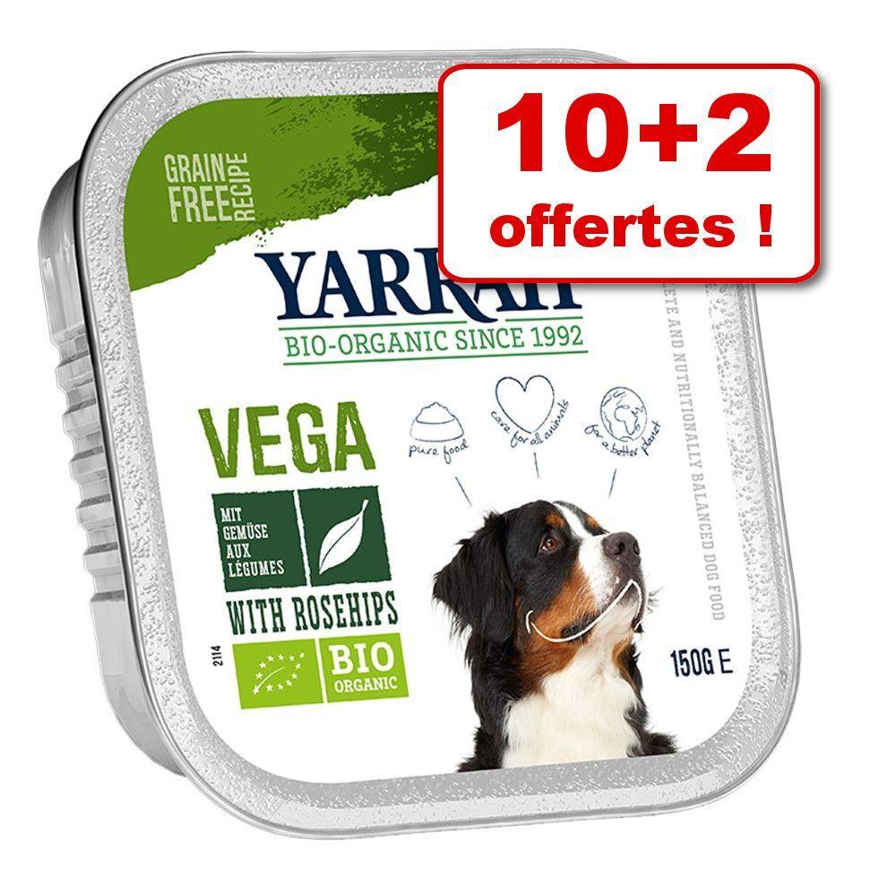 Yarrah Barquettes Yarrah 10 x 150 g + 2 barquettes offertes ! - Bio Pâté, dinde, aloe vera (sans céréales)
