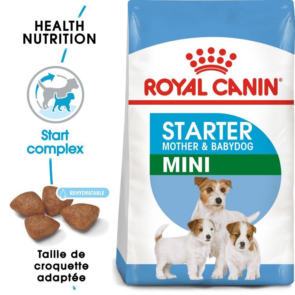 Royal Canin Size 2x8,5kg Mini Starter Mother & Babydog Royal Canin pour chien