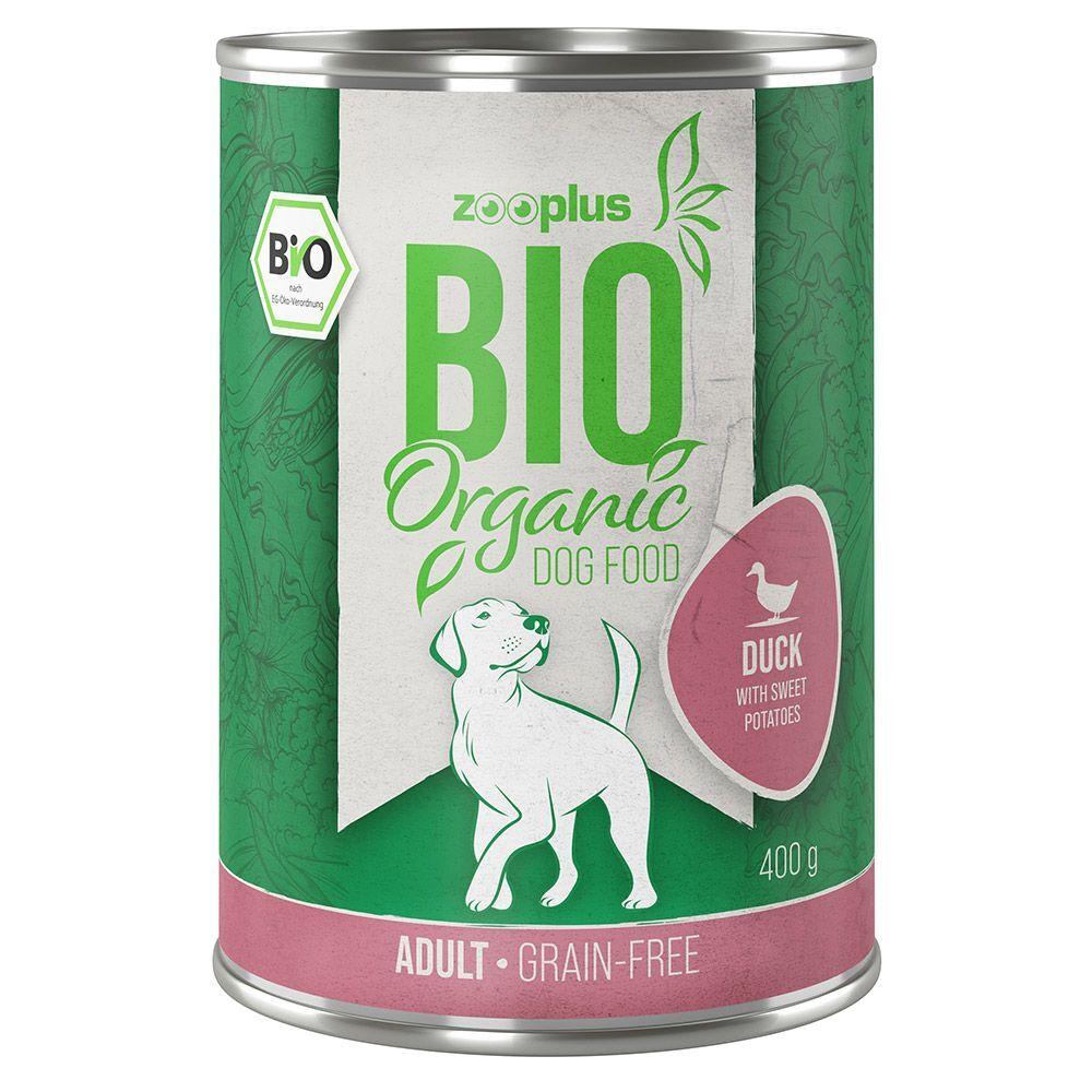 zooplus Bio 6x400g zooplus Bio canard, patates douces, courgettes (sans céréales) - Pâtée pour chien