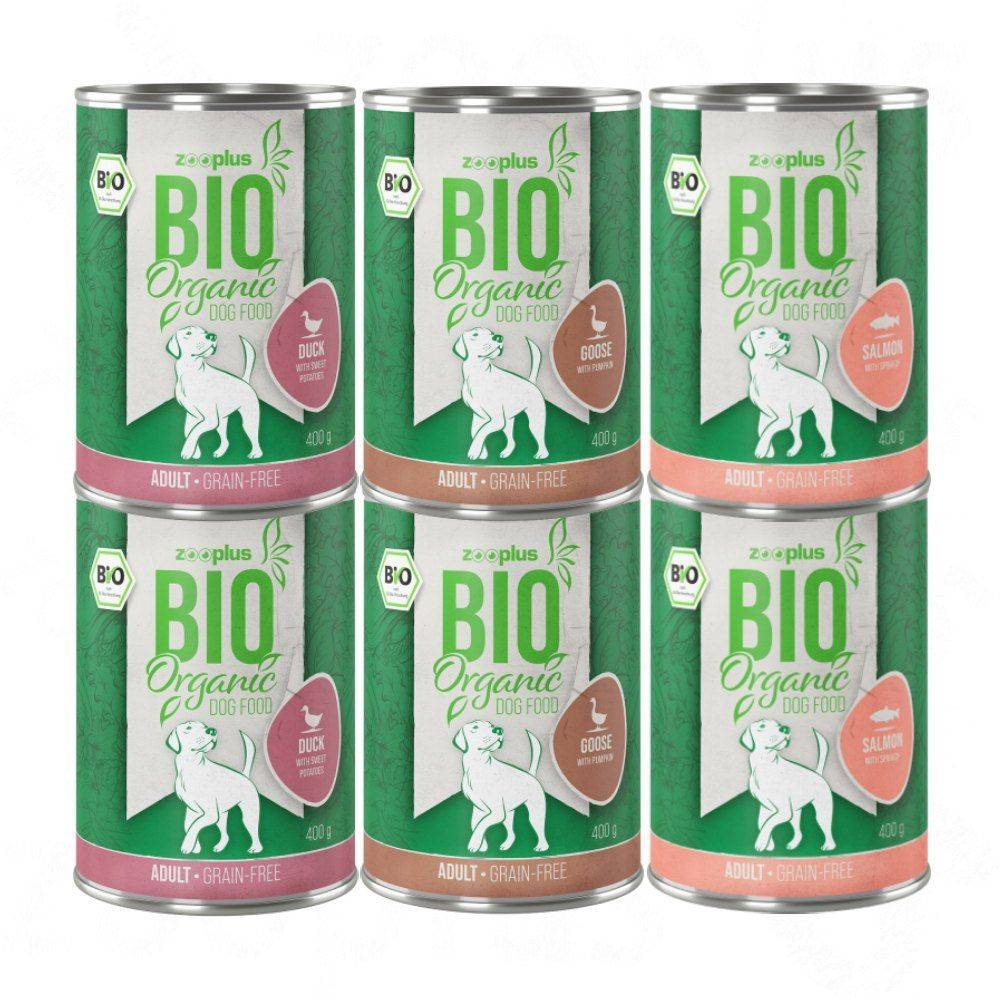 zooplus Bio 6x400g zooplus Bio sans céreales - Pâtée pour chien