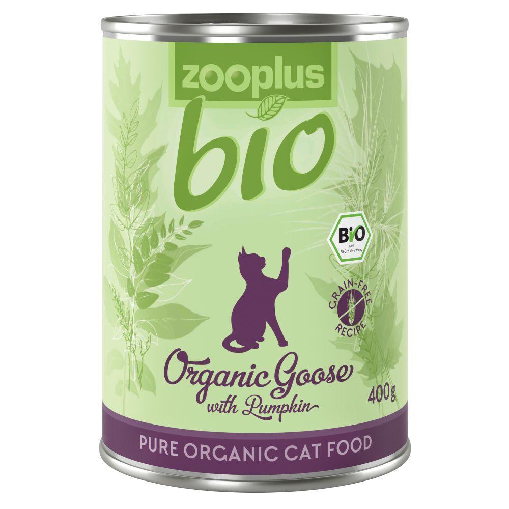 zooplus Bio 6x400g zooplus bio oie, potiron - Pâtée pour chat