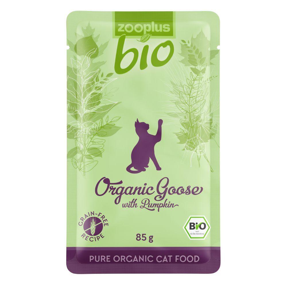 zooplus Bio 48x85g Sachets zooplus bio oie, potiron - Pâtée pour chat