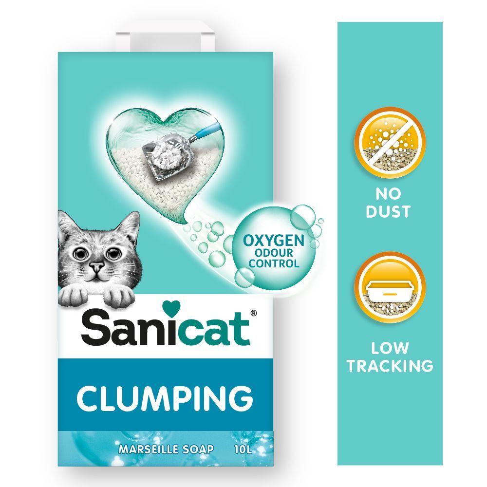Sanicat 10L Litière agglomérante Sanicat savon de Marseille - pour chat