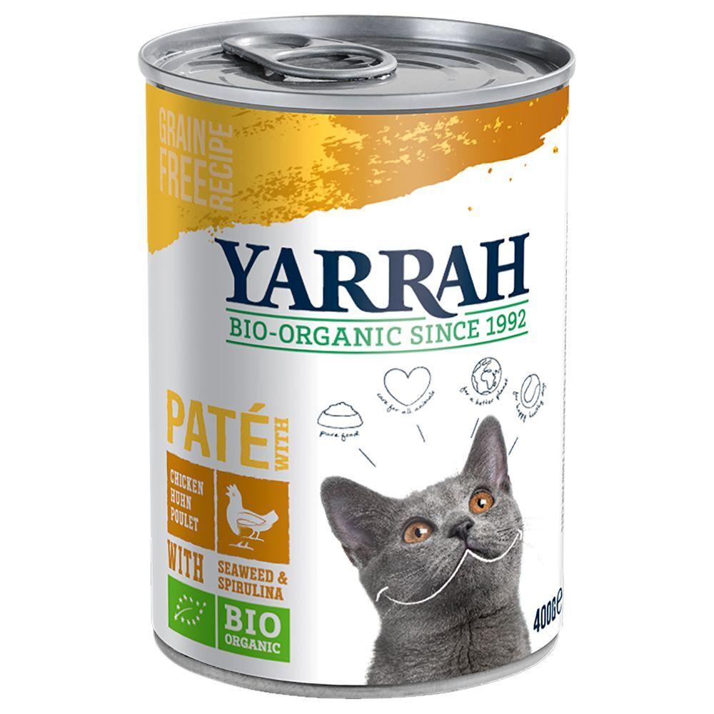 Yarrah 6x400 g Dinner Bio poulet Yarrah Cat pour chat