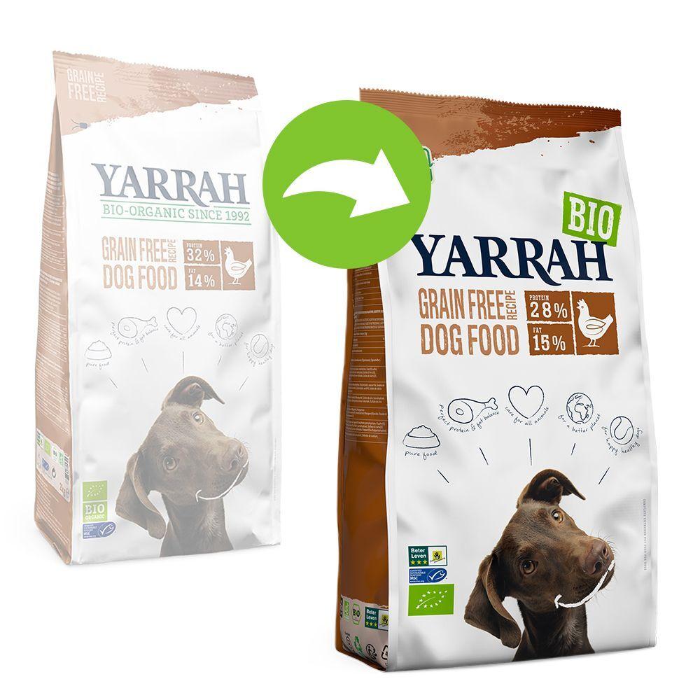 Yarrah Bio sans céréales, poulet bio pour chien - 2 x 10 kg