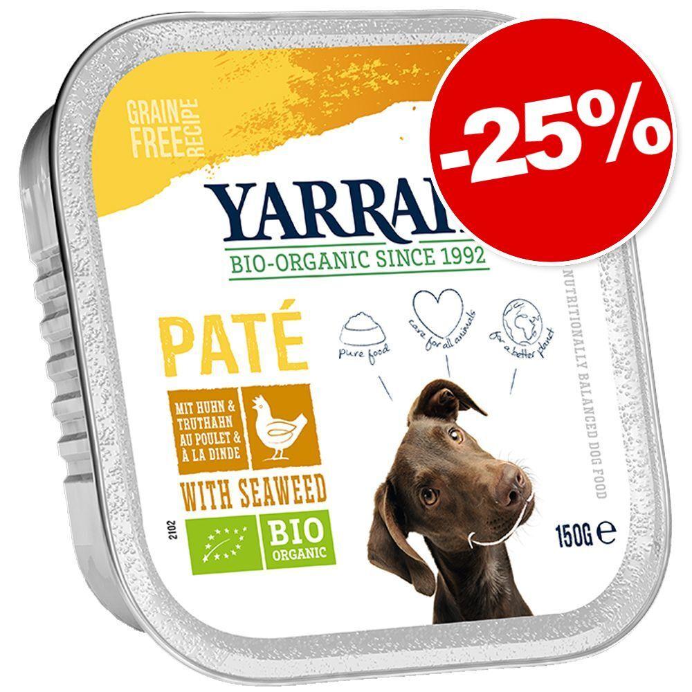 Yarrah 12x150g Pâté poulet bio, algues marines bio (sans céréales) Bio Yarrah Barquettes pour chien : 15 % de remise !