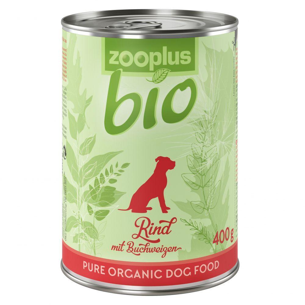 zooplus Bio 6x400g bœuf, sarrasin zooplus bio - Nourriture pour chien