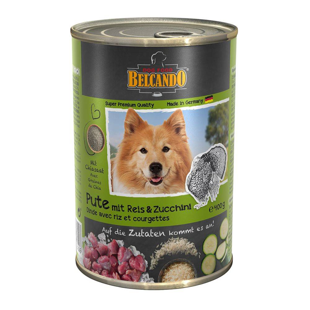 Belcando 1x400g poulet, canard, millet, carottes Super Premium Belcando - Nourriture pour chien
