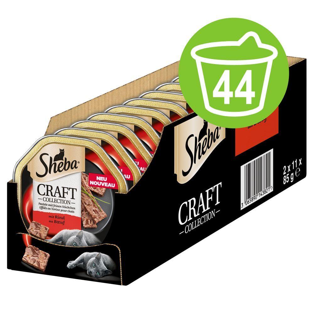 Sheba 44x85g Sheba Craft Collection Effilés en terrine bœuf - Sachet pour chat