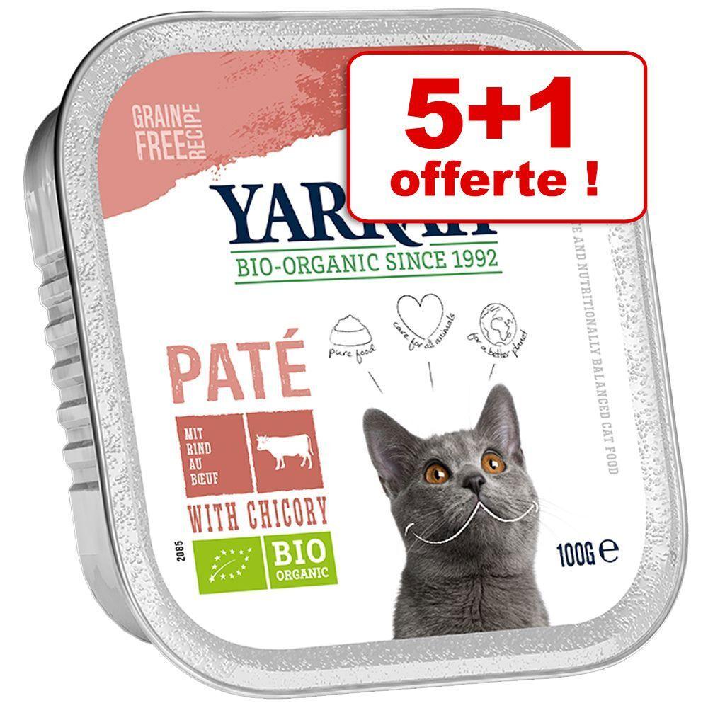 Yarrah Barquettes Yarrah 5 x 100 g + 1 barquette offerte ! - Bio Pâté : saumon, algues