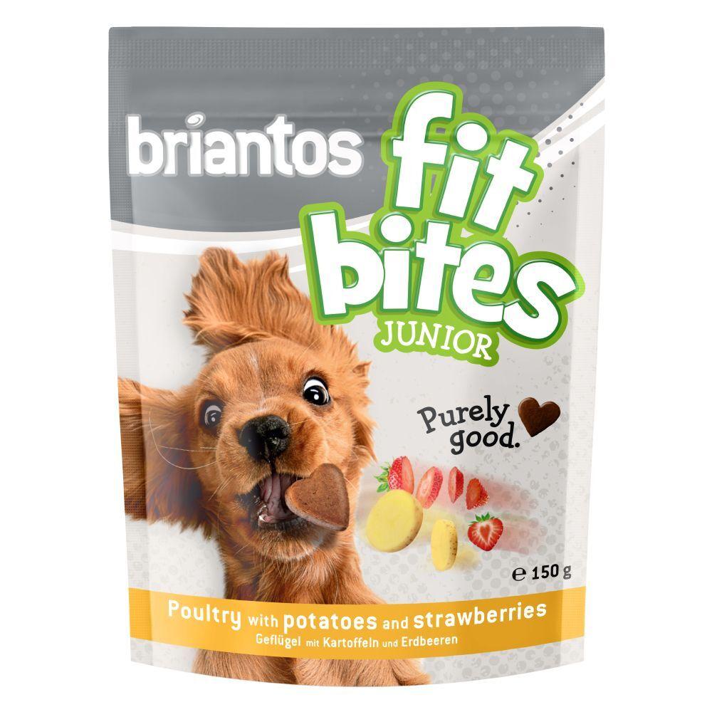 briantos 3x150g Briantos FitBites Junior volaille, pommes de terre, fraises - Friandises pour chien