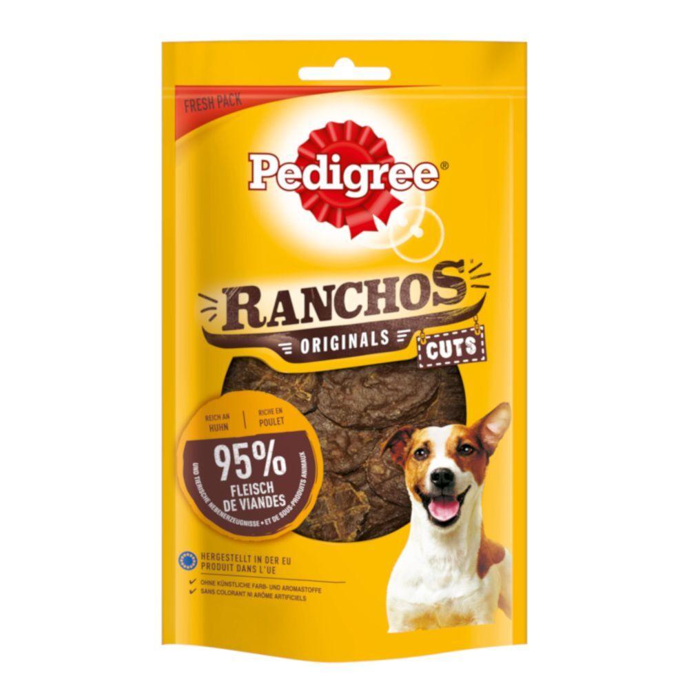 Pedigree 65g Pedigree Ranchos Original Cuts 6 x poulet - Friandises pour chien